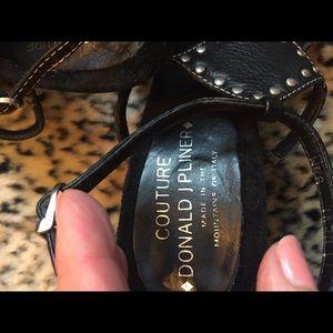 Donald J. Pliner Shoes - Donald J. Pliner Black Studded Strappy Sandals
